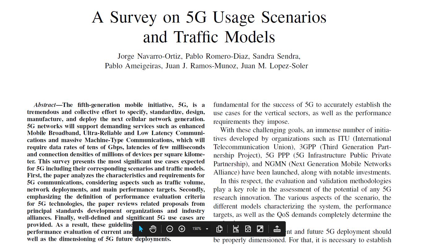 5G Usage Scenarios Survey