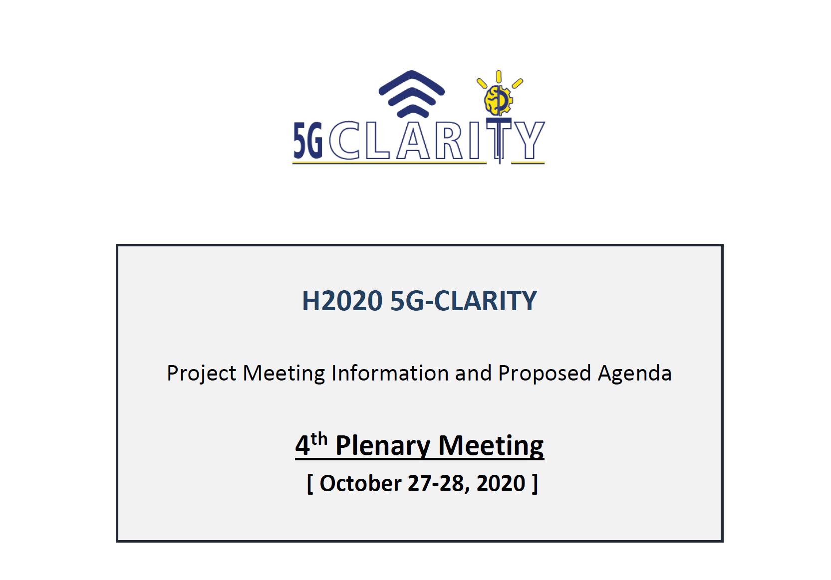 5G-CLARITY 4th Plenary Meeting