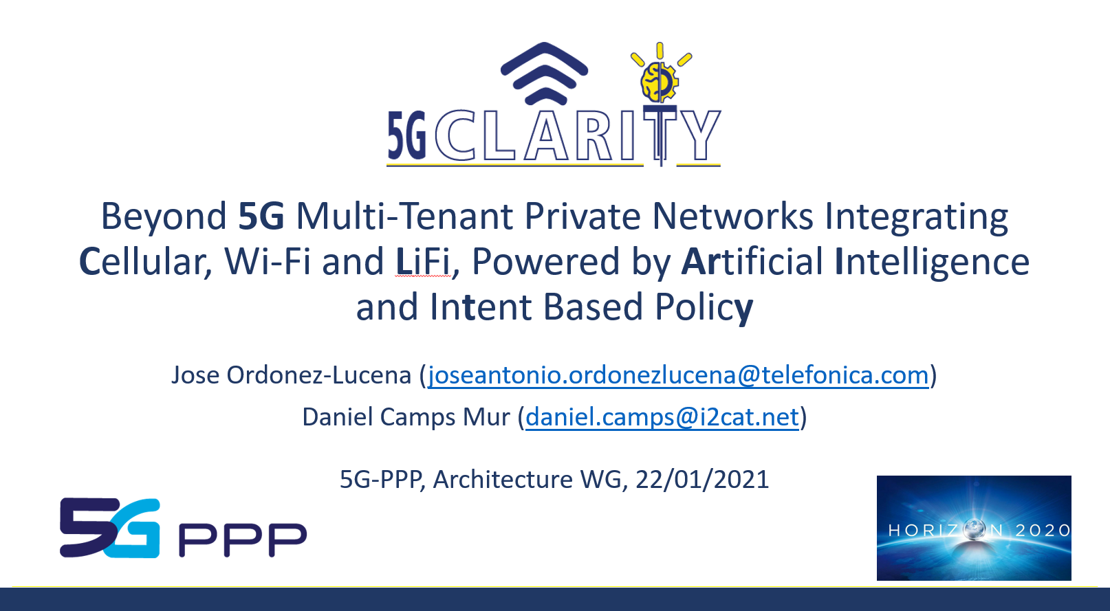 The latest on 5G-CLARITY architecture, innovation and use cases