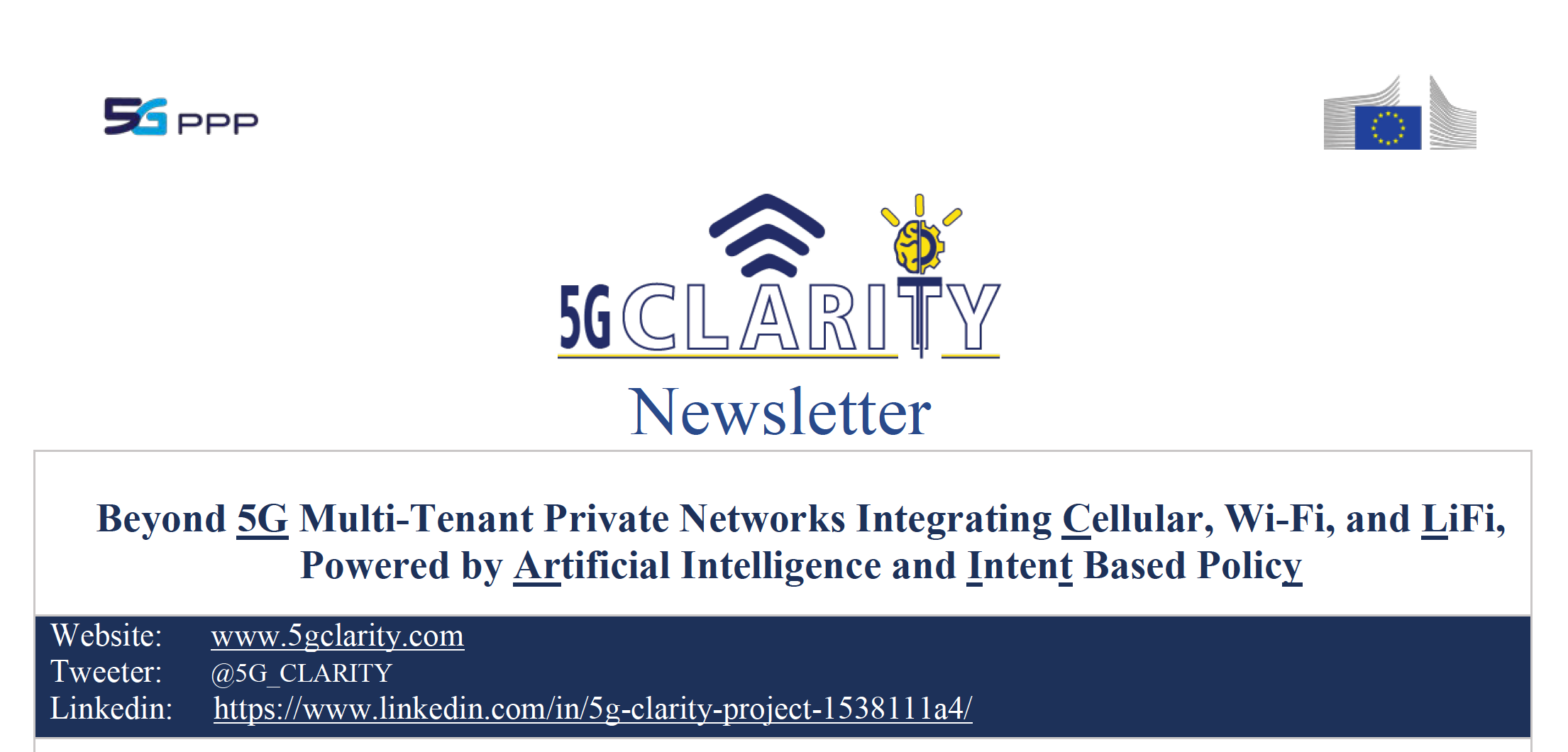 5G-CLARITY Newsletter – March 2021