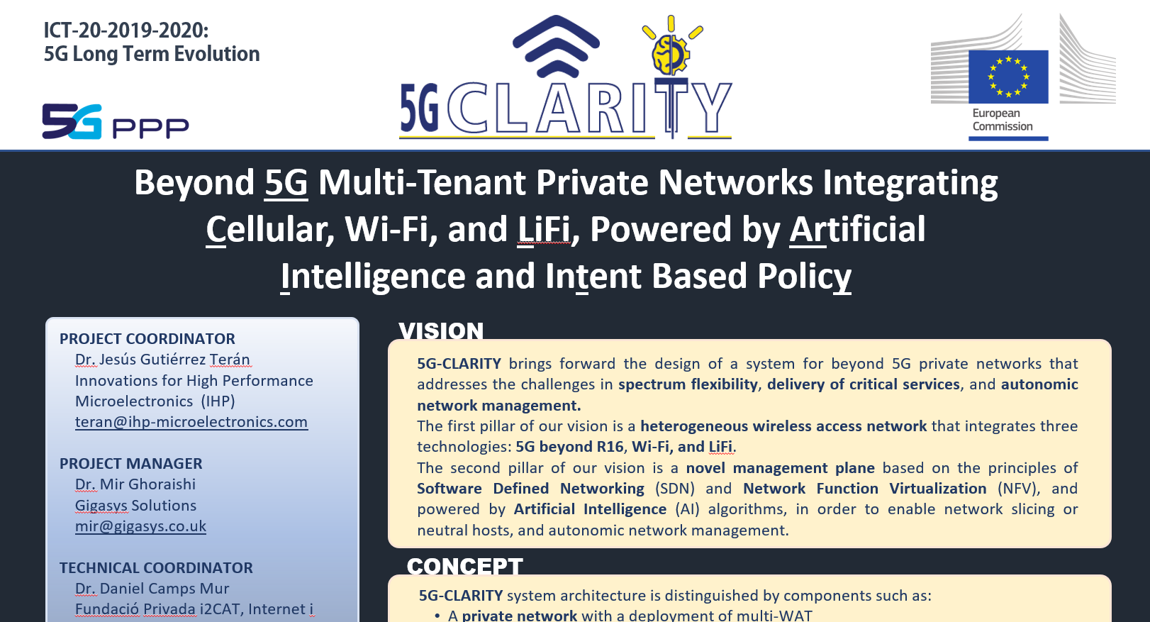 5G-CLARITY was presented in MWC 2021!